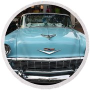 1956 Chevy Bel-air Round Beach Towel