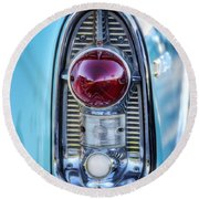 1956 Chevy Bel-air Taillight  Round Beach Towel