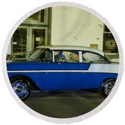 1956 Chevy Bel Air Round Beach Towel