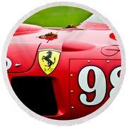 1956 Ferrari 410 Sport Scaglietti Spyder Round Beach Towel