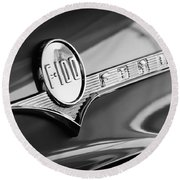 1956 Ford F-100 Pickup Truck Emblem Round Beach Towel