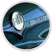 1956 Ford F-100 Truck Emblem Round Beach Towel