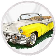 Ford Sunliner Convertible Round Beach Towel