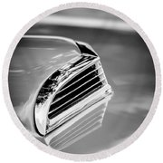 1956 Ford Thunderbird Hood Scoop -287bw Round Beach Towel