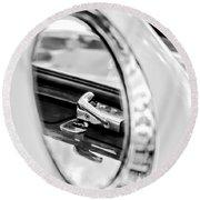 1956 Ford Thunderbird Latch -417bw Round Beach Towel