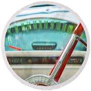 1956 Ford Thunderbird Steering Wheel -260c Round Beach Towel