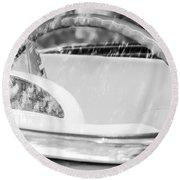 1956 Ford Thunderbird Steering Wheel -402bw Round Beach Towel
