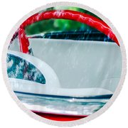 1956 Ford Thunderbird Steering Wheel -402c Round Beach Towel