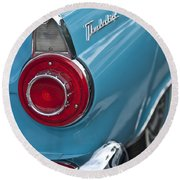 1956 Ford Thunderbird Taillight And Emblem Round Beach Towel