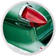1956 Oldsmobile 98 Taillight Round Beach Towel