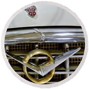 1956 Packard Caribbean Headlight Grill Round Beach Towel