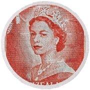 1956 Queen Elizabeth New Zealand Stamp Round Beach Towel