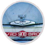1957 Aston Martin Db2-4 Mark IIi Emblem Round Beach Towel