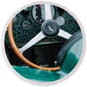 1957 Aston Martin Dbr2 Steering Wheel Round Beach Towel