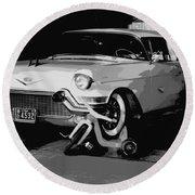 1957 Cadillac Round Beach Towel