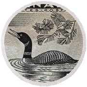 1957 Canada Duck Stamp Round Beach Towel