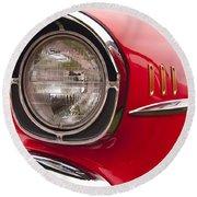 1957 Chevrolet Bel Air Headlight Round Beach Towel