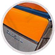 1957 Chevrolet Belair Rear Emblem -037c Round Beach Towel