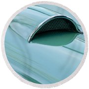 1957 Chevrolet Corvette Scoop 2 Round Beach Towel