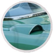 1957 Chevrolet Corvette Scoop Round Beach Towel