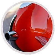 1957 Chevrolet Corvette Taillight Round Beach Towel