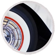 1957 Chevrolet Corvette Wheel Round Beach Towel