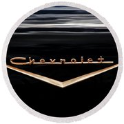 1957 Chevrolet Emblem Round Beach Towel