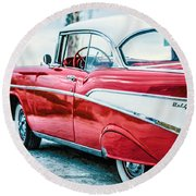 1957 Chevy Bel Air Round Beach Towel