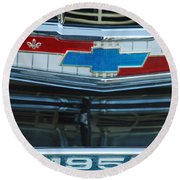 1957 Chevy Front Round Beach Towel