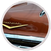 1957 Chevy II Round Beach Towel