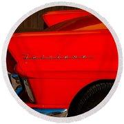 1957 Ford Fairlane Emblem -359c Round Beach Towel