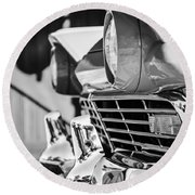 1957 Ford Fairlane Grille -205bw Round Beach Towel