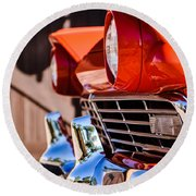 1957 Ford Fairlane Grille -205c Round Beach Towel