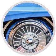 1957 Ford Fairlane Wheel Round Beach Towel