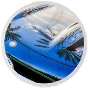 1957 Mercedes-benz 300sl Grille Emblem -0167c Round Beach Towel