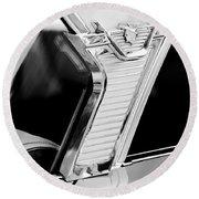 1957 Mercury Monterey Sedan -1030bw Round Beach Towel