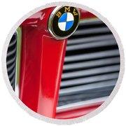 1958 Bmw 3200 Michelotti Vignale Roadster Grille Emblem -2414c Round Beach Towel