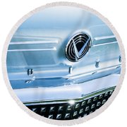 1958 Buick Roadmaster 75 Convertible Grille Emblem Round Beach Towel