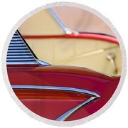 1958 Chevrolet Belair Abstract Round Beach Towel