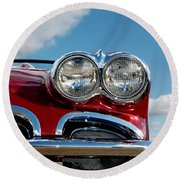 1958 Corvette Round Beach Towel
