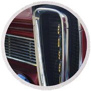 1958 Edsel Pacer Grille 2 Round Beach Towel