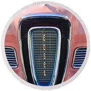 1958 Edsel Pacer Grille Emblem Round Beach Towel