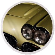 1958 Fancy Free Corvette J58s Round Beach Towel