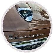 1958 Ford Fairlane 500 Skyliner Round Beach Towel