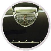 1958 Ford Fairlane 500 Victoria Hood Ornament Round Beach Towel