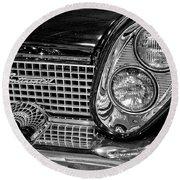 1958 Lincoln Continental Headlight Round Beach Towel