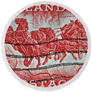 1958 Overland Mail Stamp Round Beach Towel