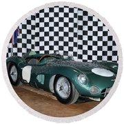 1959 Aston Martin Dbr1 Round Beach Towel