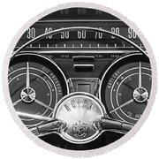 1959 Buick Lasabre Steering Wheel Round Beach Towel by Jill Reger