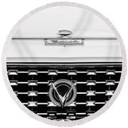 1959 Buick Lesabre Convertible Grille Emblems Round Beach Towel